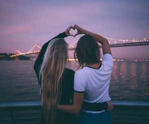 friends, friendship, and heart image