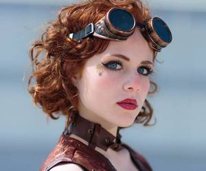 girl, goggles, and steampunk image