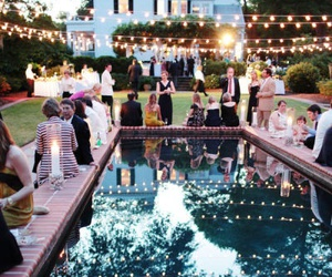party, light, and garden image