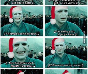 harry potter, voldemort, and christmas image