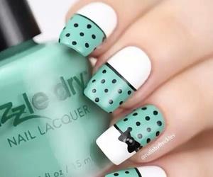 nails, nail polish, and nail art image