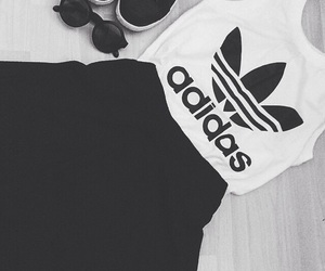 adidas, shoes, and skirt image