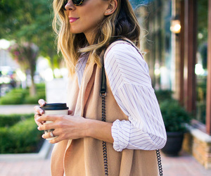 blonde, coffee, and fashion image