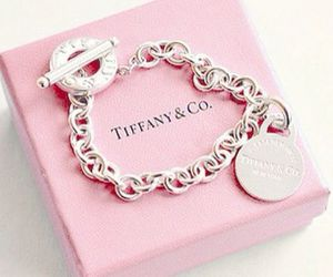 pink, bracelet, and tiffany image