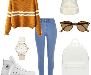 backpack, outfit, and style image