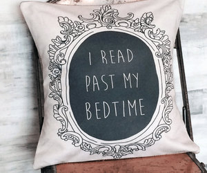 book, pillow, and reading image