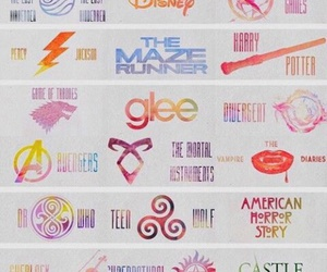 glee, harry potter, and teen wolf image