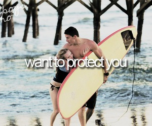 boy, protect, and couple image