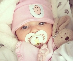 baby, cute, and pink image