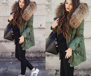 outfit, winter, and adidas image