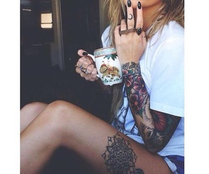 girl, tattoo, and model image