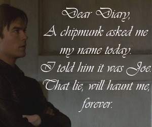 damon, funny, and tvd image