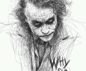 joker, batman, and drawing image