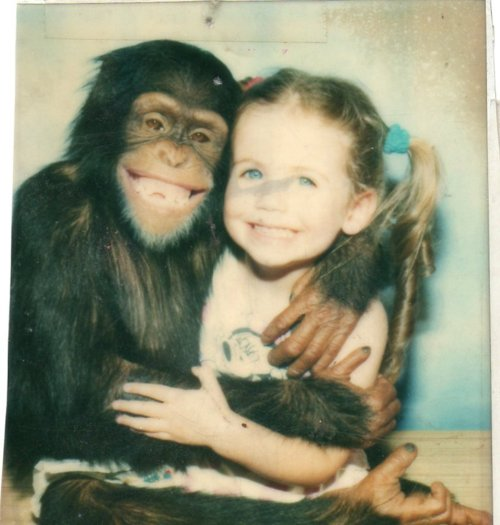 monkey, girl, and smile image