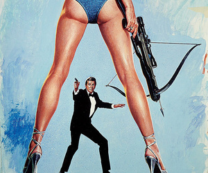 1981, art, and James Bond image
