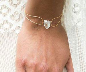 bracelet, diamond, and teardrop image