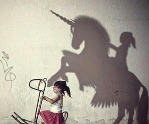 unicorn, Dream, and shadow image