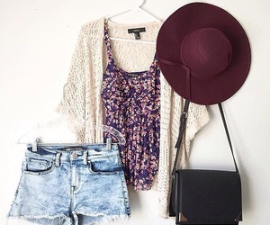 outfit, fashion, and hat image