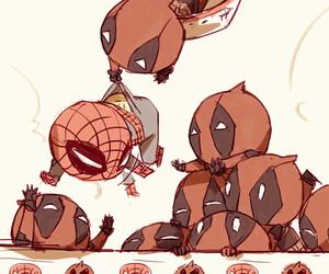 deadpool and spiderman image