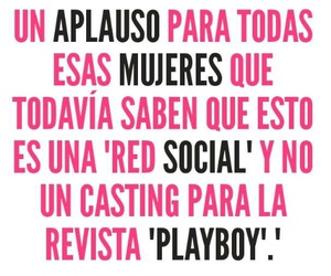 mujeres and red social image