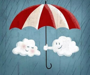clouds, rain, and cute image