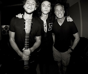 ashton irwin, andy biersack, and 5sos image