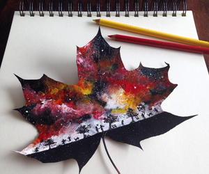 art, beautiful, and leaf image