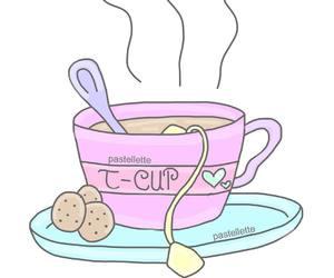overlay, tea, and cute image