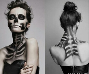 Halloween, skeleton, and black and white image