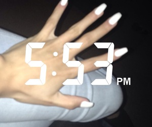 aesthetic, nails, and snapchat image