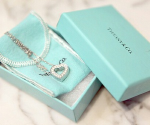 necklace, heart, and tiffany image