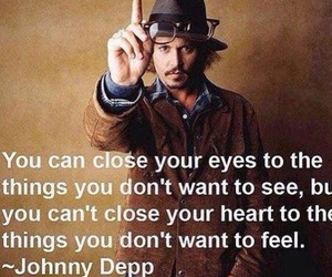 johnny depp, heart, and quote image