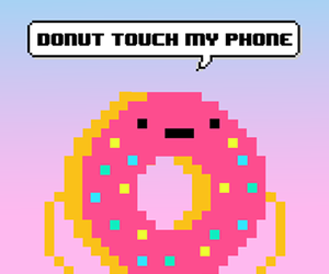 donut, wallpaper, and phone image