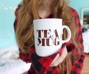 drink, tea cup, and tea mug image
