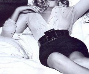belt, black and white, and blonde image