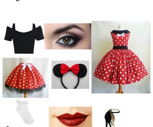 costume, diy, and minnie mouse image