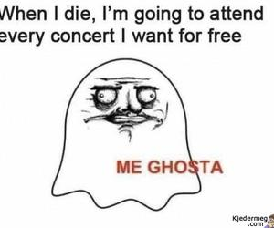 concert, funny, and ghost image