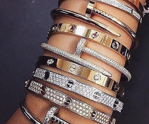 bracelet, accessories, and cartier image