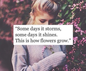 flowers, quotes, and storm image