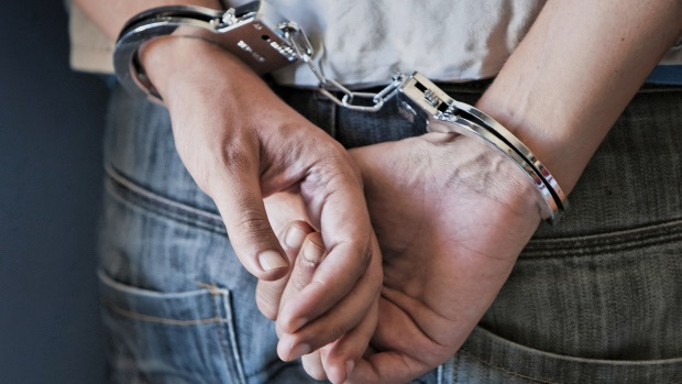 boy, handcuffs, and hands image