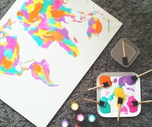 art, world, and colour image
