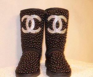 boots, chanel, and uggs image