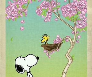 snoopy, peanuts, and woodstock image