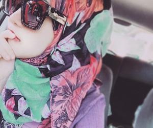 asia, glasses, and hijab image