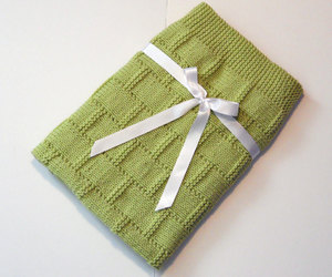 etsy, hand knit, and baby blanket image