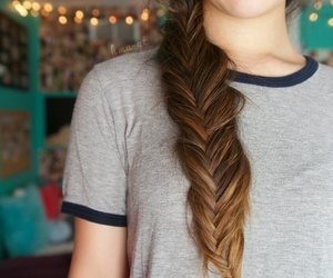 hair, tumblr, and braid image