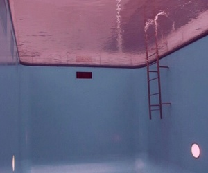 pool, pink, and blue image