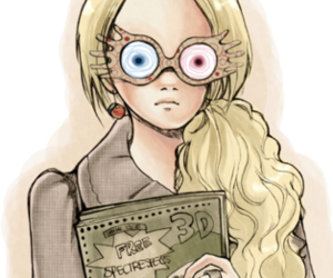 luna lovegood, drawing, and harry potter image