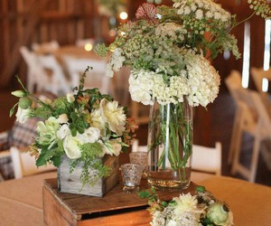 bouquet, rustic, and candles image