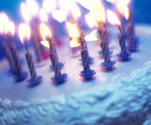 birthday, cake, and candles image